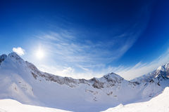 Sunny bright winter landscape of Caucasus, Sochi Royalty Free Stock Images