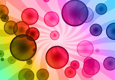 Sunny bubble background Stock Photos