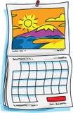 Sunny Calendar Stock Photo