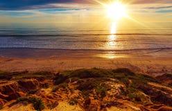 Sunny California Beach Royaltyfri Bild