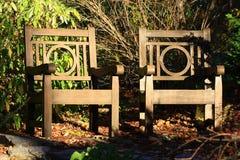 Sunny Chairs em Duke Garden Imagem de Stock