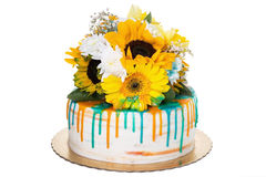 Free Sunny Cheerful Birthday Cake. Royalty Free Stock Photos - 88453968