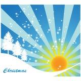 Sunny christmas background Stock Photo