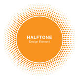 Sunny Circle Halftone Logo Design Element. Sun vector icon.  Stock Photos