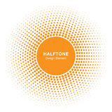 Sunny Circle Halftone Logo Design-Element Sun-Vektorikone Lizenzfreie Stockfotografie