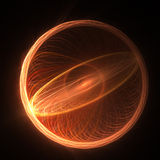Sunny circle rays. Abstract chaos sunny ring rays on dark background Stock Photography
