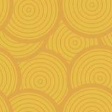 Sunny Circles Seamless Pattern, fond de vecteur dans des couleurs chaudes Image libre de droits