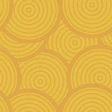 Sunny Circles Seamless Pattern, Vector Background in Warm Colors Royalty Free Stock Image