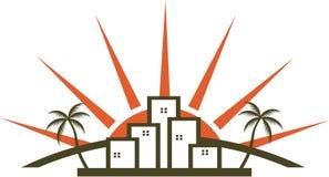 Sunny city royalty free stock image