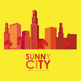 Sunny city design Stock Photo