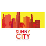 Sunny city design Stock Photography