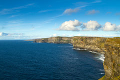 Sunny Cliffs of Moher. Cliffs of Moher in Co. Clare, Ireland Stock Images