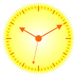 Sunny clock Royalty Free Stock Photography