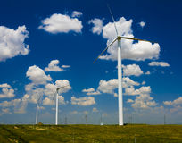 Sunny cloud wind power china Stock Photos
