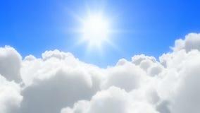 Sunny clouds flight stock footage