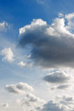 Sunny and cloudy sky Royalty Free Stock Photography