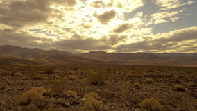 Sunny cloudy sky in death valley stock video