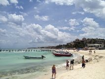 Amazing sky in Playa del Carmen royalty free stock photo
