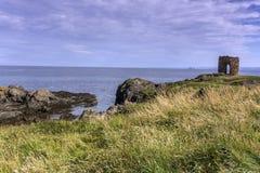 Sunny coastline in Elie Scotland Royalty Free Stock Photos