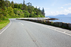 Sunny coastline road Royalty Free Stock Images