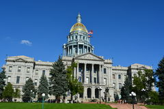 Sunny Colorado Capitol Building. The Colorado Statehouse on a sunny day Royalty Free Stock Photography