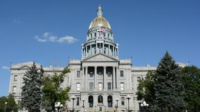 Sunny Colorado State Capitol Building stock video