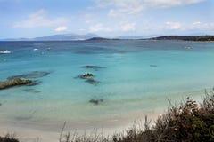 Sunny corsican beach Royalty Free Stock Image
