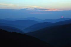 Sunny dawn on the mountain slopes Royalty Free Stock Photo