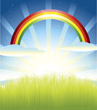 Sunny Day. Vector illustration of sunny day and idyllic scene Royalty Free Stock Photography