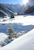 Sunny day. Winter holiday in Pitztal, Austria Stock Photography