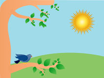Sunny day stock illustration