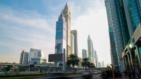 Sunny day 4k time lapse from dubai main road Stock Photo