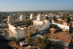Sunny day above the historical hindu temple Royalty Free Stock Image