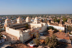 Sunny day above the historical Temple in Orchha Stock Photo
