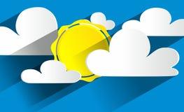 Sunny Day abstrato criativo ilustração do vetor