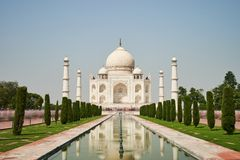 Sunny day in Agra stock images