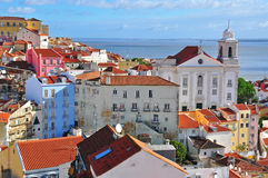 Sunny day in Alfama, Lisbon Royalty Free Stock Photo