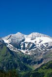 Sunny day in Alps Stock Image