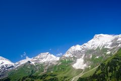 Sunny day in Alps Royalty Free Stock Photo