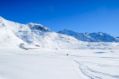 Sunny day on Alps Royalty Free Stock Photography
