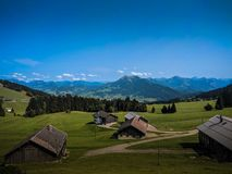 Sunny day in the alps royalty free stock image