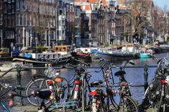 Sunny day in Amsterdam Stock Image