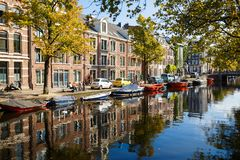 Sunny day in Amsterdam Royalty Free Stock Photos