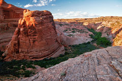 Sunny day in Arches Canyon Stock Image