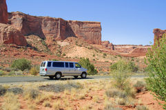 Sunny day at Arches Canyon, Utah. USA Stock Images