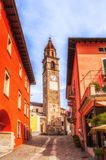 A sunny day in Ascona Switzerland Royalty Free Stock Images