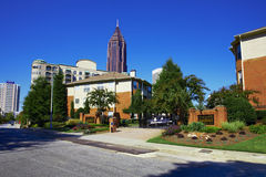 Sunny day in Atlanta, GA. Royalty Free Stock Image