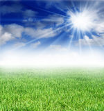 Sunny day background Royalty Free Stock Photo