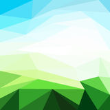 Sunny Day Background. Vector Illustration made with triangles Stock Images