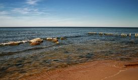 A sunny day in the Baltic Sea Royalty Free Stock Photos